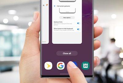 Samsung One UI 2 Navigation Gestures