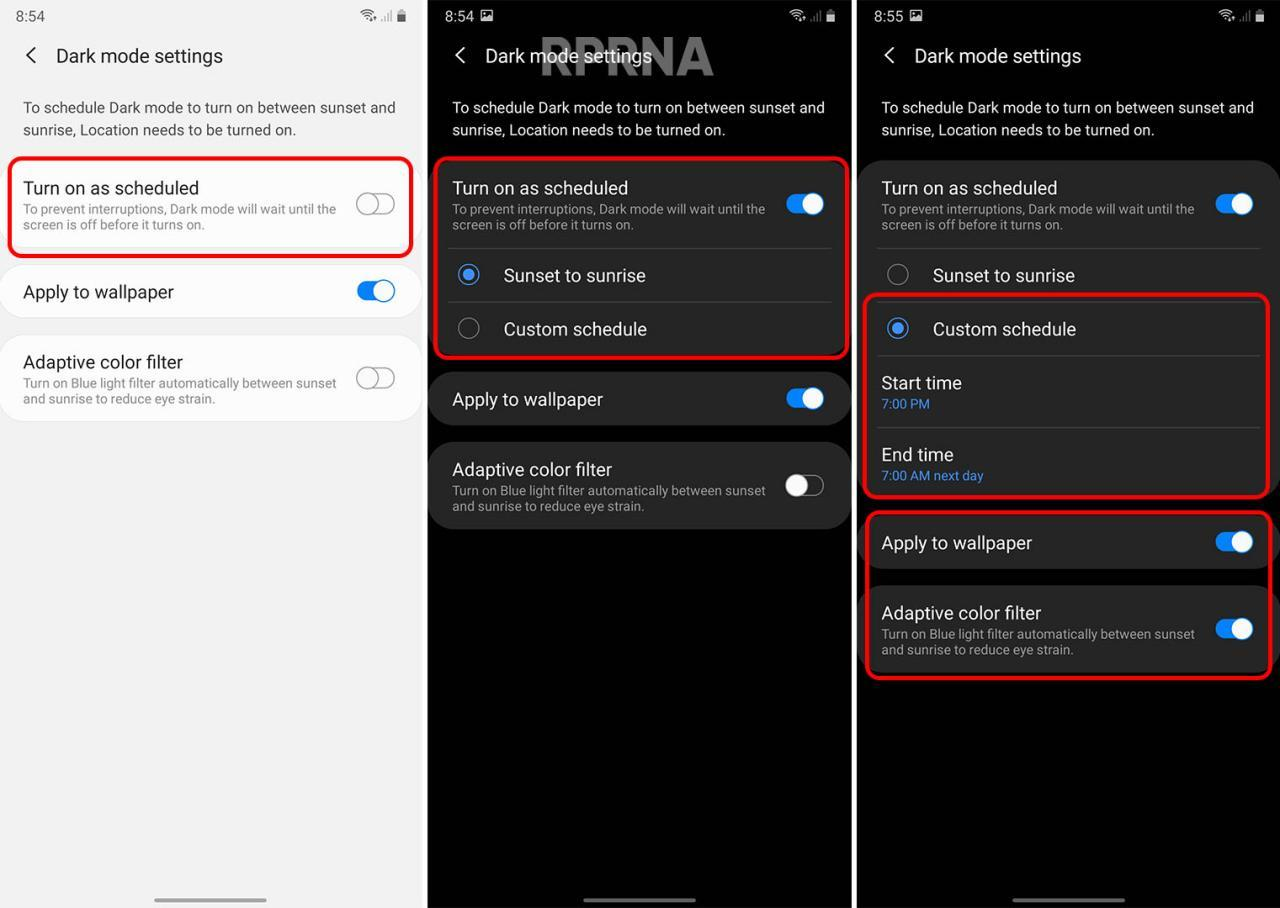 Samsung One Ui 2 5 Tips How To Enable And Customize Dark Mode On The Galaxy Note 20 Rprna