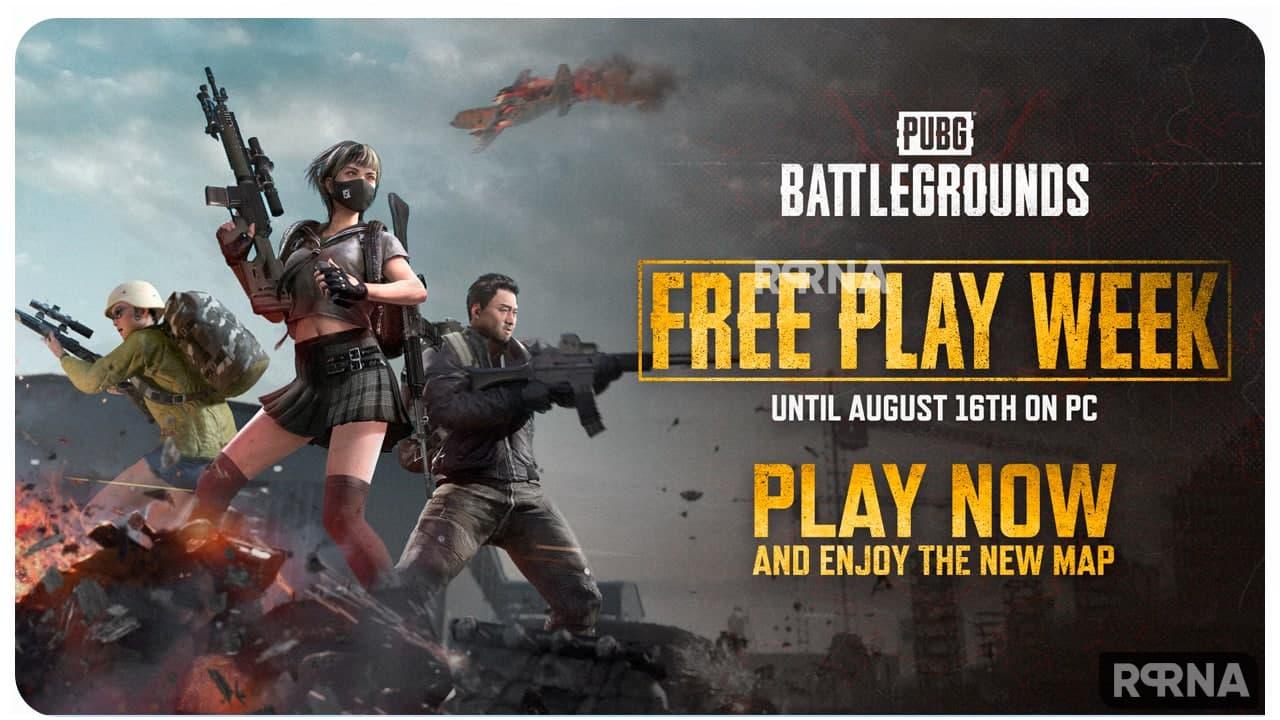 PUBG Battleground Free Play Week-