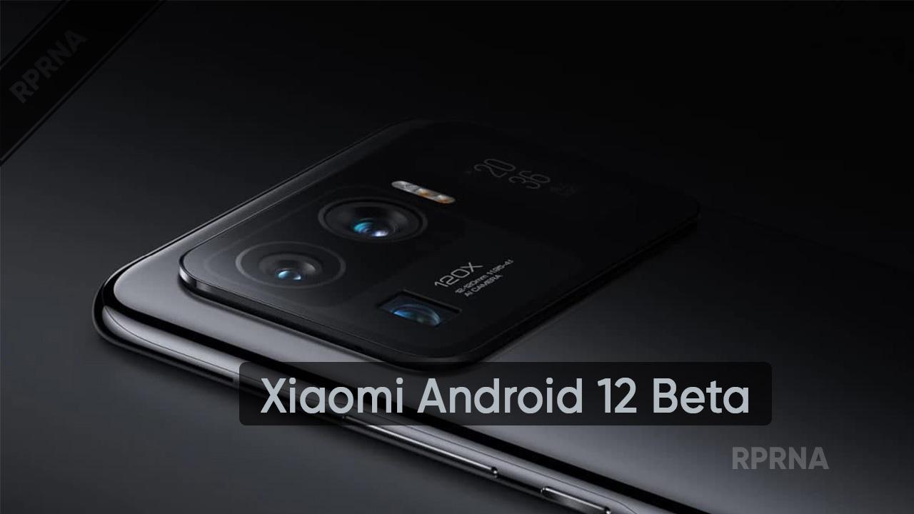 Xiaomi Android 12 Beta